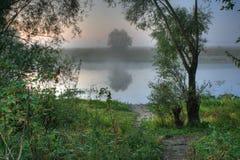 rzeka mgłowa Obraz Stock
