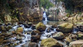 Rzeka Miodowa siklawa Algeciras Cadiz Hiszpania zdjęcie stock