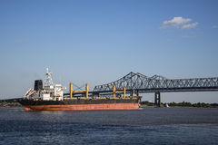 Rzeka Mississippi ładunku statek Fotografia Stock