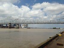 Rzeka Mississippi most - Nowy Orlean, Luizjana Zdjęcia Royalty Free