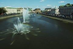rzeka moscow Zdjęcia Royalty Free