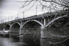 Rzeka most Obraz Stock