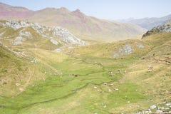 Aguas Tuertas dolina. Hiszpańszczyzny Pyrenees Zdjęcie Royalty Free