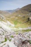 Aguas Tuertas dolina. Hiszpańszczyzny Pyrenees Zdjęcie Stock