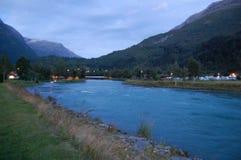 Rzeka na nocy Obrazy Royalty Free