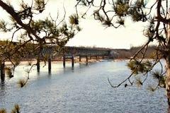 rzeka nadokienny Wisconsin Obrazy Stock