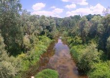 rzeka obszarów wiejskich Obrazy Royalty Free