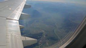 Rzeka od samolotowego okno zbiory wideo
