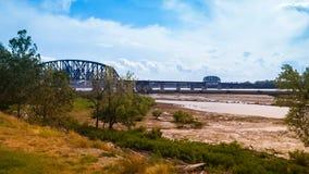 Rzeka Ohio Bridżowy Indiana Kentucky fotografia stock