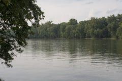Rzeka Ohio przy Buckley wyspą zdjęcie royalty free