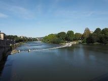 Rzeka Po w Turyn Zdjęcie Royalty Free