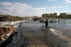 rzeka powodzi, Fotografia Stock