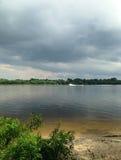 Rzeka przed burzą Fotografia Stock