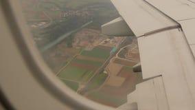 Rzeka Przez Samolotowego okno zdjęcie wideo