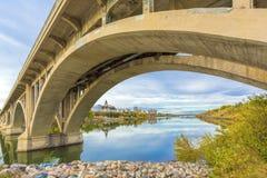 Rzeka przez Saskatoon Obraz Royalty Free