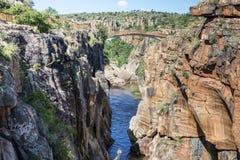 Rzeka przy bourkes wybojami w południowym Africa Zdjęcie Royalty Free