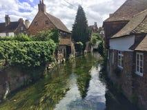 Rzeka przy Canterbury Obraz Royalty Free