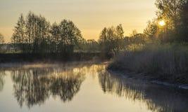 Rzeka przy wschód słońca Fotografia Stock