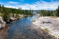 Rzeka przy Yellowstone parkiem narodowym Fotografia Stock