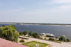 rzeka Rosji Wołgi Volgograd przeglądu Obraz Stock