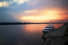 rzeka słońca Zdjęcia Royalty Free