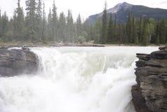 rzeka spada na athabasca rozlewać Obraz Stock
