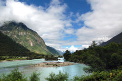 rzeka Tibet plateau Obraz Stock
