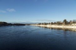 Rzeka Umeå, Szwecja Obrazy Royalty Free