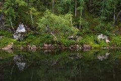 Rzeka wśród skał Zdjęcia Royalty Free