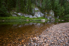 Rzeka wśród skał Obraz Stock
