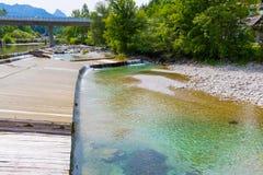Rzeka w alps Zdjęcie Stock