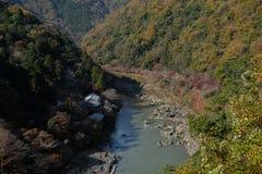 Rzeka w Arashiyama Kyoto, Japonia zdjęcie stock