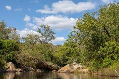 Rzeka w brazylijskim środkowym zachodzie zdjęcia royalty free