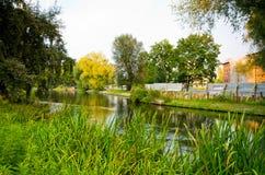 Rzeka w Bydgoskim, Polska Zdjęcie Stock