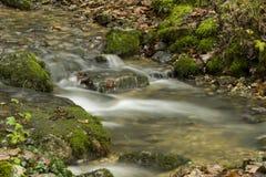 Rzeka w długim ujawnienie czasie Zdjęcia Stock