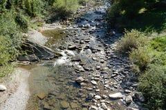 Rzeka w górze fotografia stock
