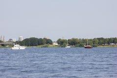 Rzeka w Holandia wakacyjnym widoku natury woda Fotografia Stock