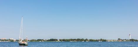 Rzeka w Holland natury wakacyjnym lecie Obraz Stock