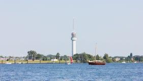Rzeka w Holland natury wakacyjnym wakacje letni Obrazy Royalty Free
