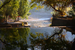 Rzeka w Jiangwan wiosce Zdjęcia Royalty Free