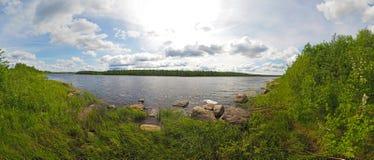 Rzeka w Karelia lecie obraz stock