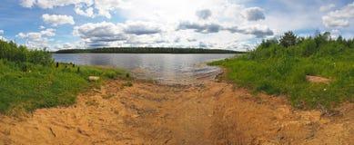 Rzeka w Karelia lecie zdjęcia stock