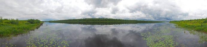 Rzeka w Karelia lecie zdjęcia royalty free