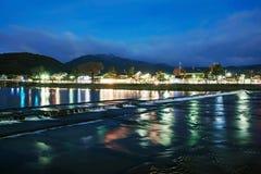 Rzeka w Kyoto Japonia fotografia royalty free