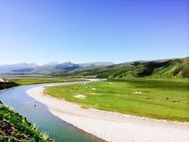 Rzeka w lato Obrazy Stock
