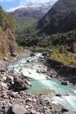 Rzeka w Nepalskich himalajach Obrazy Stock