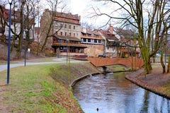 Rzeka w Olsztyńskim Fotografia Stock