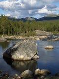 Rzeka w południowy Norwegia Obrazy Stock