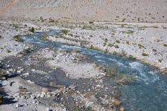 Rzeka w pustyni Zdjęcia Royalty Free