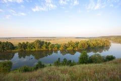 Rzeka w ranek fotografia royalty free